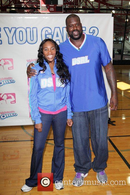Venus Williams and Shaquille O'Neal help launch the...