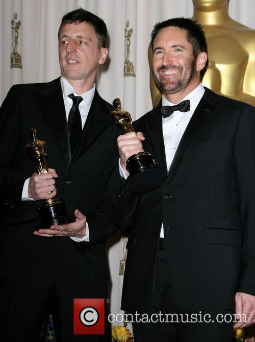Trent Reznor and Atticus Ross at the 2011 Oscars