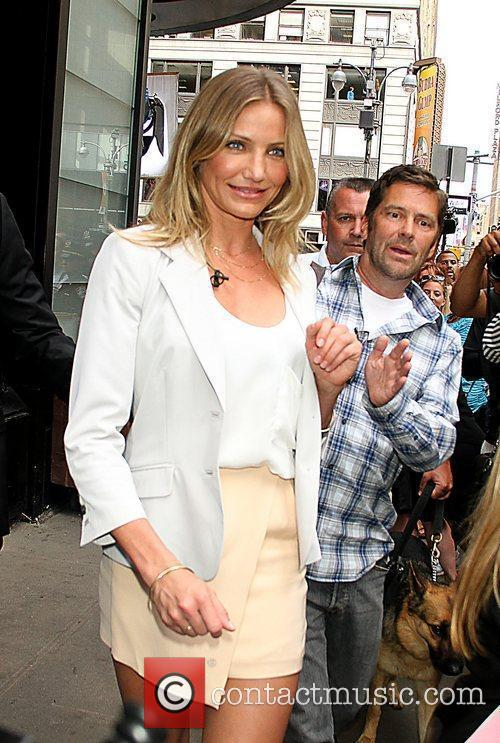 Cameron Diaz at ABC's 'Good Morning America' to...