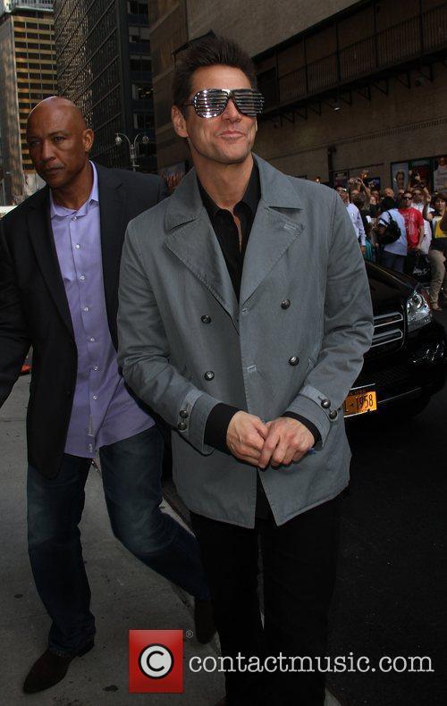 Jim Carrey  outside The Ed Sullivan Theater...