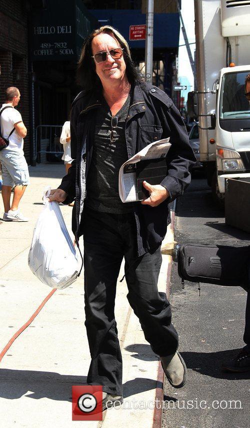 Todd Rundgren outside The Ed Sullivan Theater for...