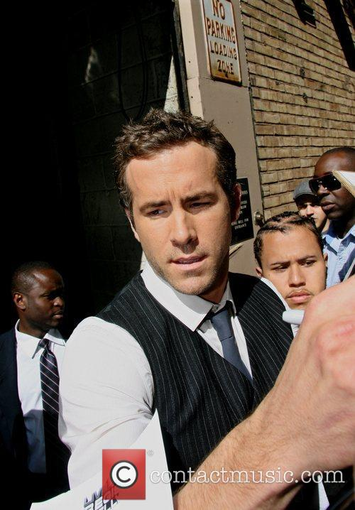 Ryan Reynolds leaving ABC studios after appearing on...