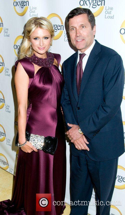 Paris Hilton and Steve Burke Oxygen Upfront presentation...