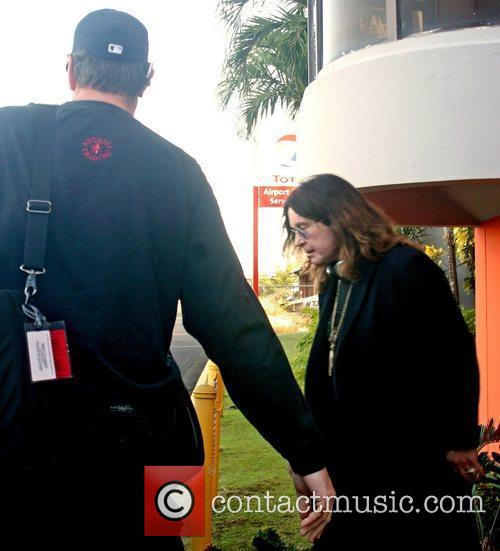 Ozzy Osbourne arrives at Luis Munoz Marin International...