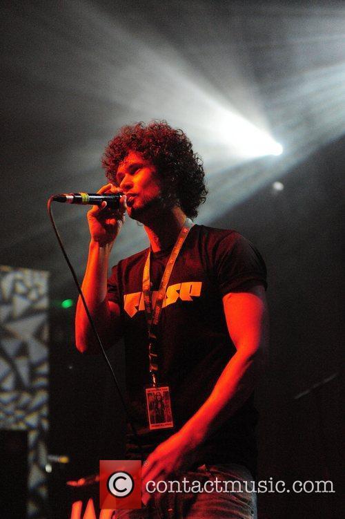 Jamie George performing on stage at the HMV...