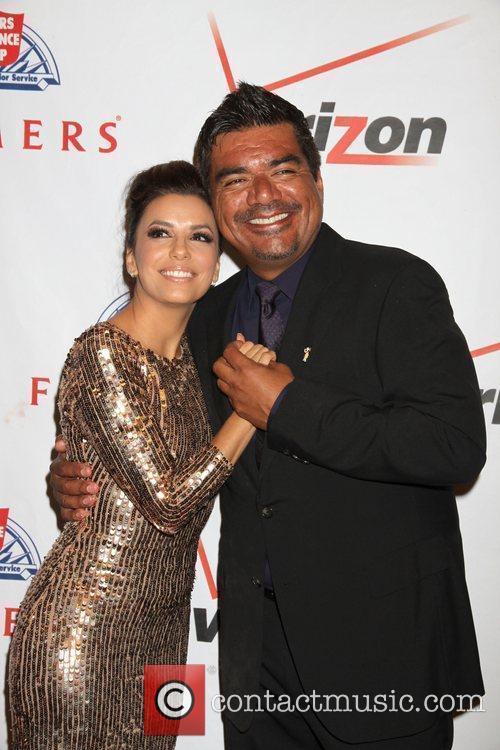 George Lopez, Eva Longoria Eva Longoria hosts Padres...