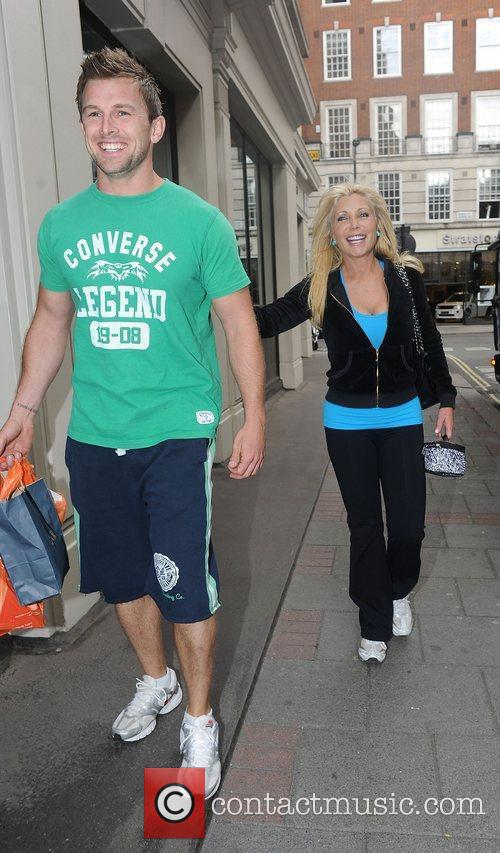 Pamela Bach leaving Sainsbury's with a friend after...