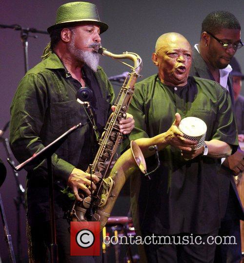 Arturo Tappin and Hugh Masekela,  performing at...