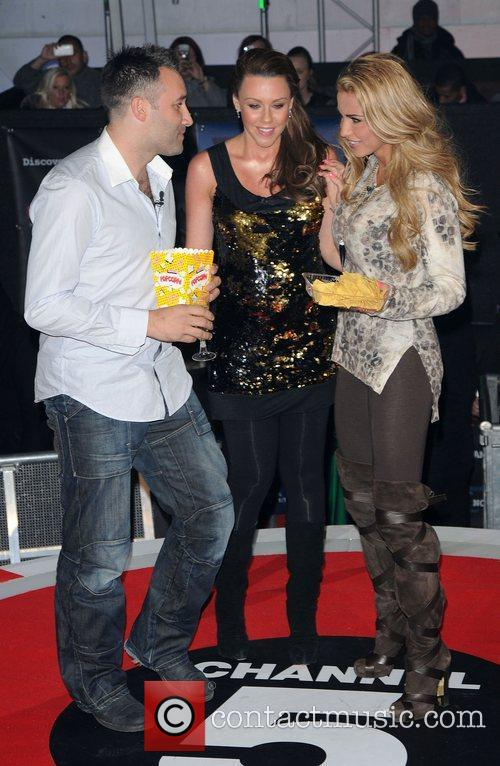 Dane Bowers, Katie Price, Michelle Heaton and Elstree Studio 9