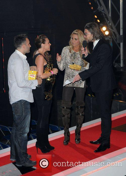 Dane Bowers, Katie Price, Michelle Heaton and Elstree Studio 4