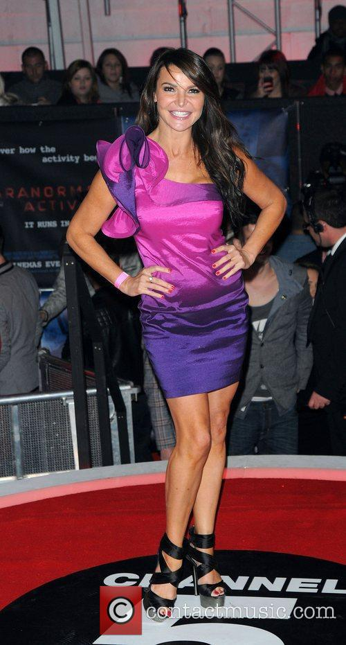 Lizzy Cundy,  at the UK premiere of...