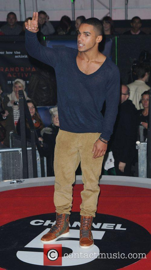 Lucien Laviscount,  at the UK premiere of...