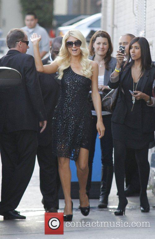 Paris Hilton arriving at the Jimmy Kimmel Live...