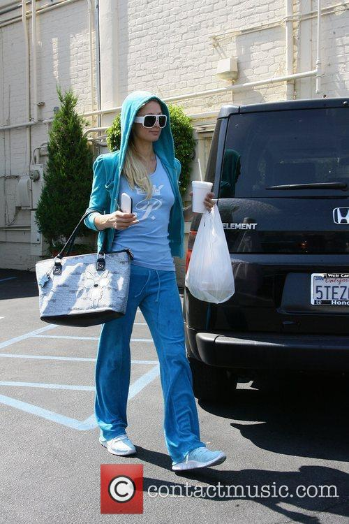 Paris Hilton is seen leaving Il Pastaio in...