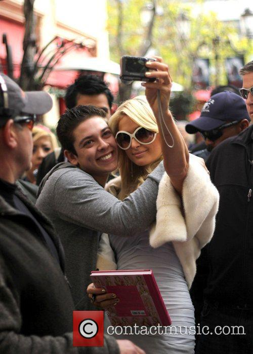 Paris Hilton at The Grove in Hollywood for...