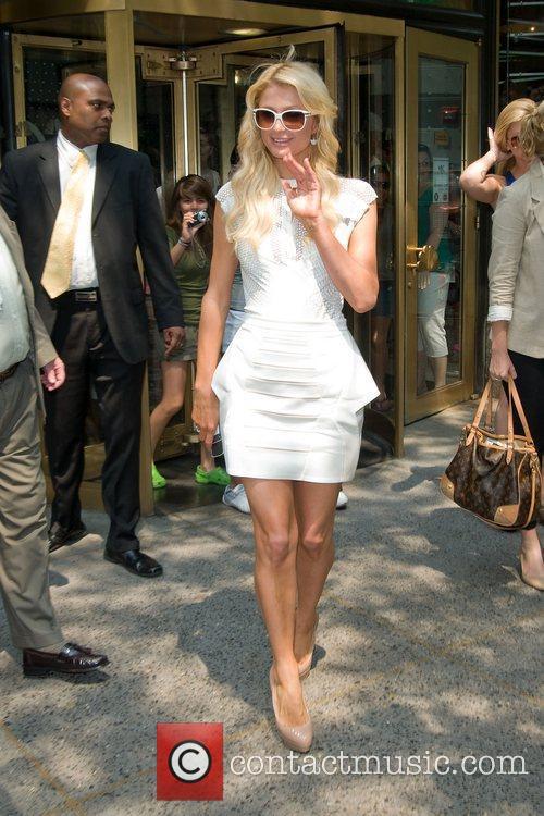 Paris Hilton leaving the NBC experience store
