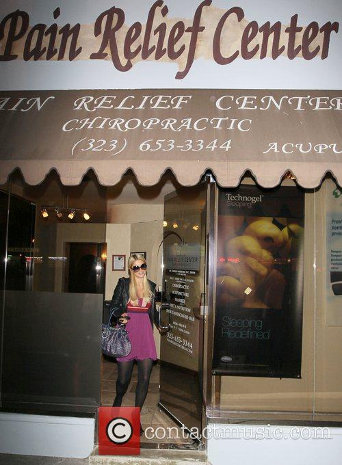 Paris Hilton leaving The Pain Relief Centre in...