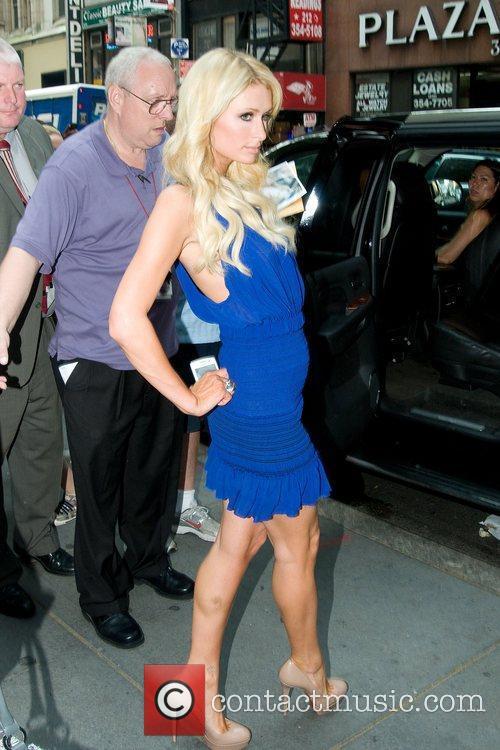 Paris Hilton leaving 'Today Show'