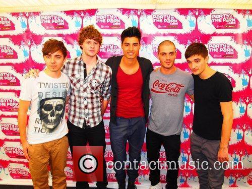 The Wanted Party in the Park - backstage...
