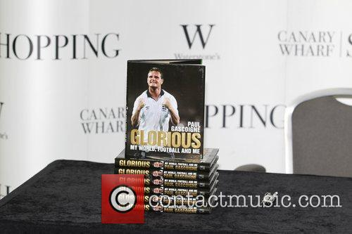 Paul Gascoigne signs copies of his book 'Glorious:...