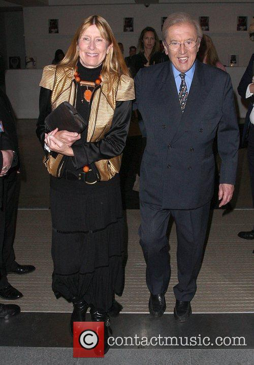 Sir David Frost and wife Lady Carina Frost,...