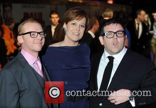 Simon Pegg, Nick Frost and Sigourney Weaver 3