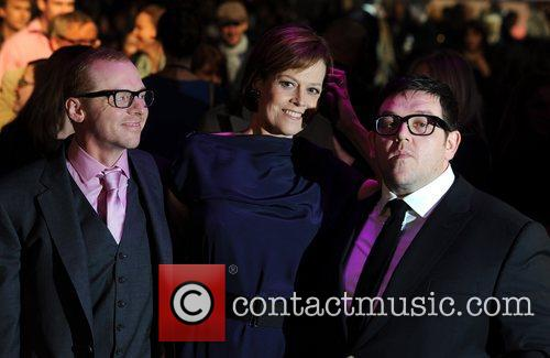 Simon Pegg, Nick Frost and Sigourney Weaver 2