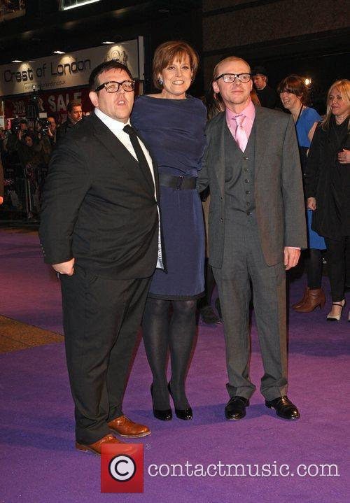 Simon Pegg, Nick Frost and Sigourney Weaver 7