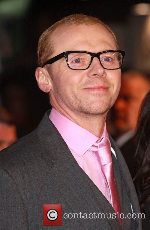 Simon Pegg Paul - UK film premiere held...