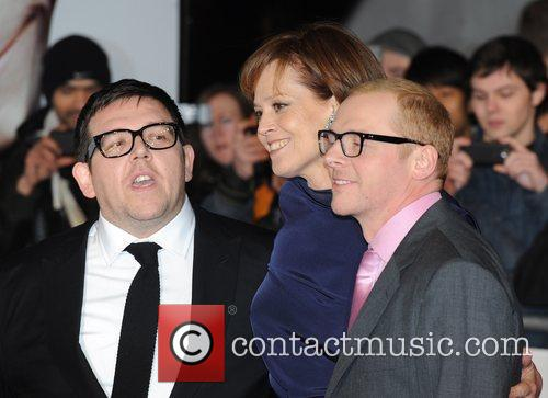 Nick Frost, Sigourney Weaver and Simon Pegg 2