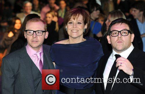 Simon Pegg, Nick Frost and Sigourney Weaver 10