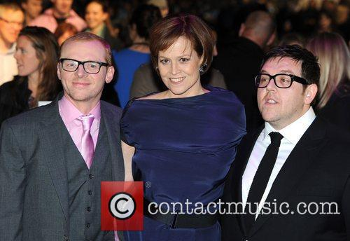 Simon Pegg, Nick Frost and Sigourney Weaver 1