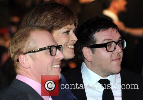 Simon Pegg, Nick Frost and Sigourney Weaver 5