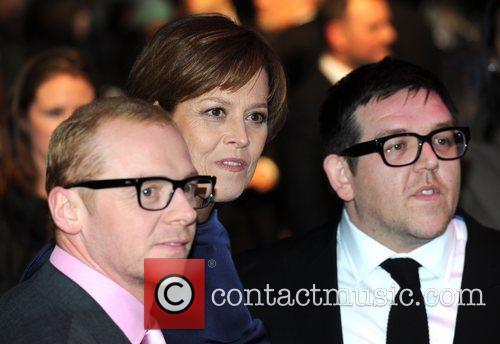 Simon Pegg, Nick Frost and Sigourney Weaver 4