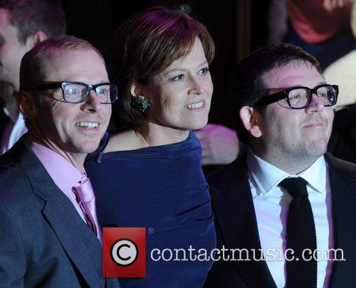 Nick Frost, Sigourney Weaver and Simon Pegg 3