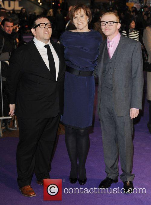 Nick Frost, Sigourney Weaver and Simon Pegg 4