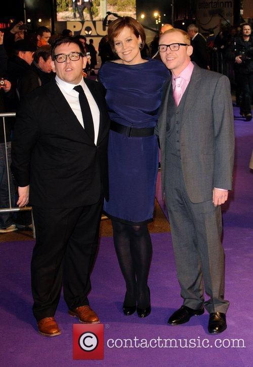 Nick Frost, Sigourney Weaver and Simon Pegg 6