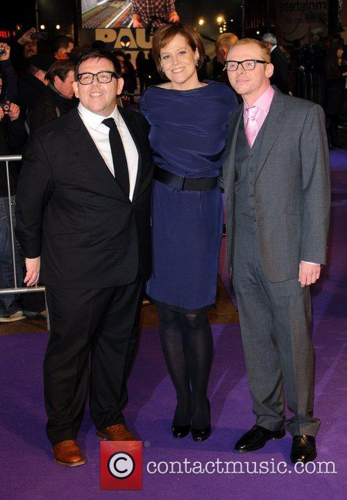 Nick Frost, Sigourney Weaver and Simon Pegg 7