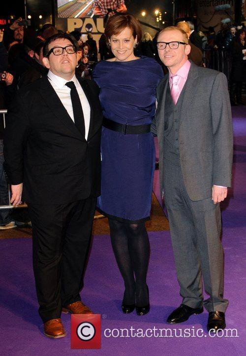 Nick Frost, Sigourney Weaver and Simon Pegg 1