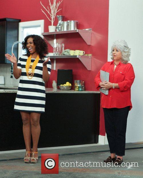 Tanika Ray and Paula Deen 1