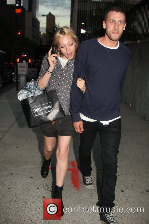 Peaches Geldof and her boyfriend are seen out...