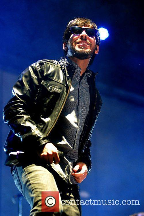 Mike Shinoda of Linkin Park,  performing at...