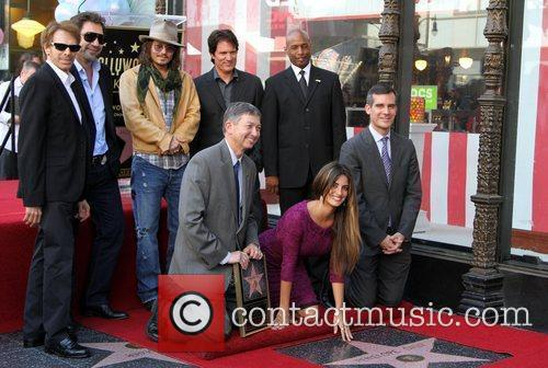 Jerry Bruckheimer, Javier Bardem, Johnny Depp, Penelope Cruz, Rob Marshall, Star On The Hollywood Walk Of Fame