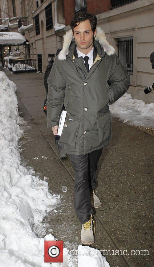 Penn Badgley out and about in New York...