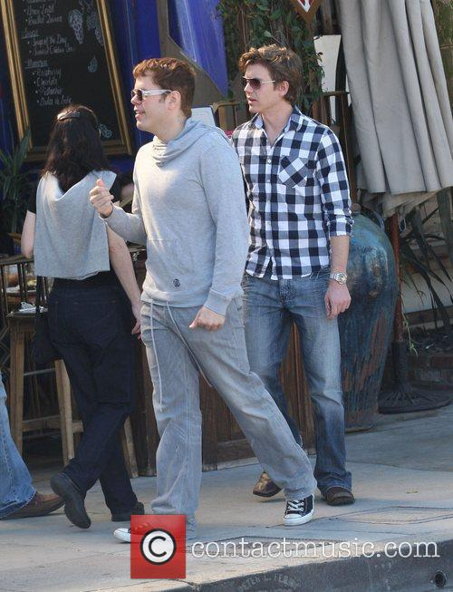 Perez Hilton goes for lunch in West Hollywood...