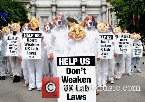 PETA protestors call on the U.K. government not...