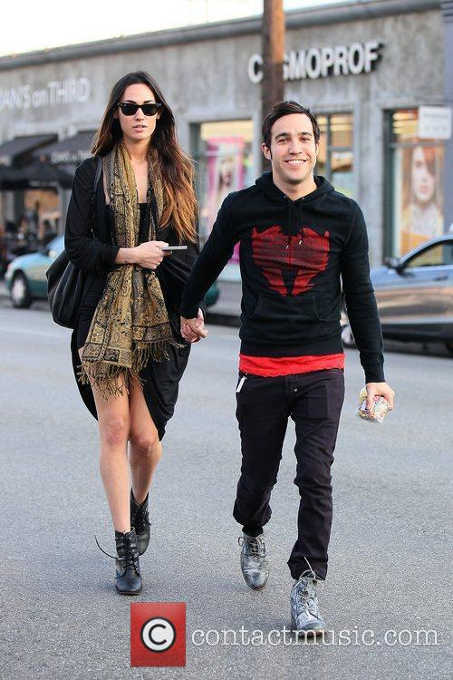 Pete Wentz with his new model girlfriend as...