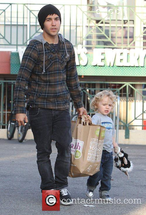 Pete Wentz and his son Bronx  leaving...