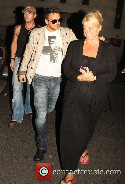 Peter Andre and Claire Powell arrive at the...