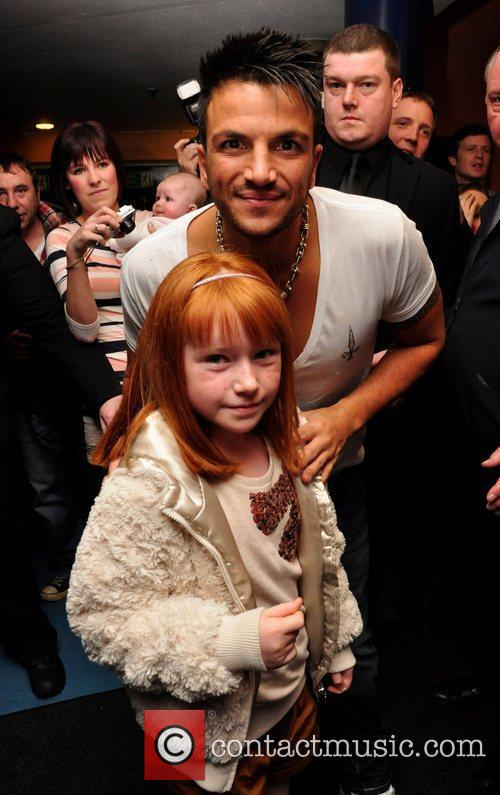 Peter Andre and a fan Holly kelly Peter...